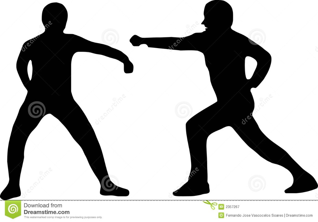 two-silhouettes-fighting-2357267